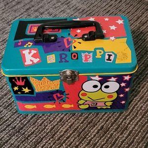 Vintage keroppi metal box!